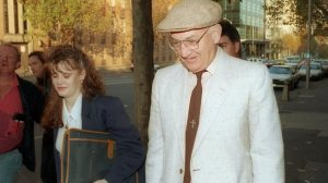 Gerald Ridsdale leaves the Melbourne Magistrates Court during a previous case. Picture: Peter Ward Source: Herald Sun