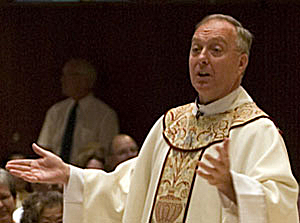 The Rev. Kevin McDonough served as vicar general — the archbishop's second in command — from 1991 to 2008. He's pastor of two parishes and has long been a leader within the archdiocese. (Getty Images/File 2007)