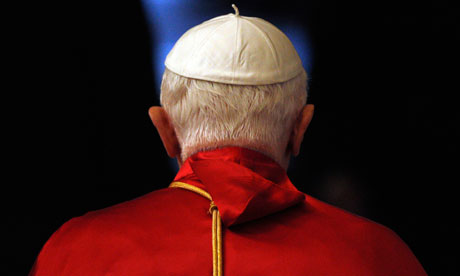 Looking the other way . . . Pope Benedict XVI. Photograph: Tony Gentile/Reuters