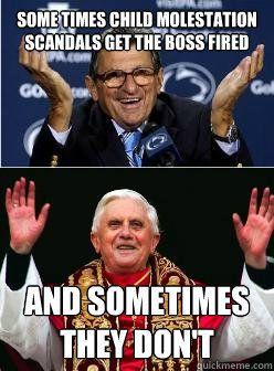 Pope Benedict XVI has gotten away with many crimes.