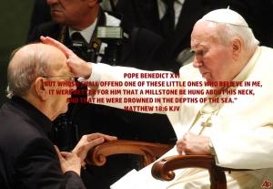 """Pope Emeritus Benedict XVI blessing Pedophile """"Father"""" Marcial"""