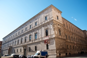 The Palazzo della Cancelleria in Rome, home of Cardinal Bernard Law. Credit: David Macchi/CC BY-NC-ND 2.0
