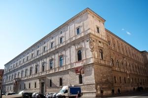 The Palazzo della Cancelleria in Rome, home of Cardinal Bernard Law. Credit: David Macchi/CC BY-NC-ND 2.0