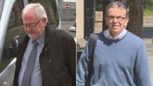 John Farrell (left) and Paul Kelly outside court