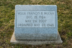 Father Francis B McCaa head stone