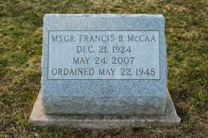 Father Francis B McCaa head stone